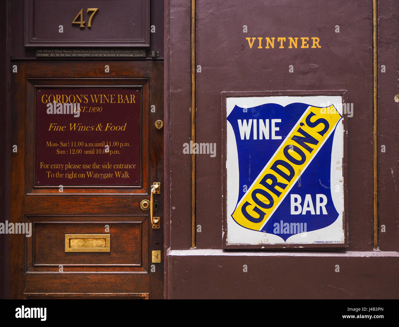 Gordons wine bar stock photo royalty free image 140386029 alamy gordons wine bar biocorpaavc
