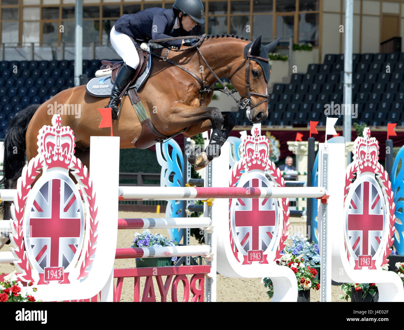 The Royal Windsor Horse Show At Home Park Private Castle UK Thames Speed Stakes Arina Abramovich RUS Riding Quick Stepp Credit Leo
