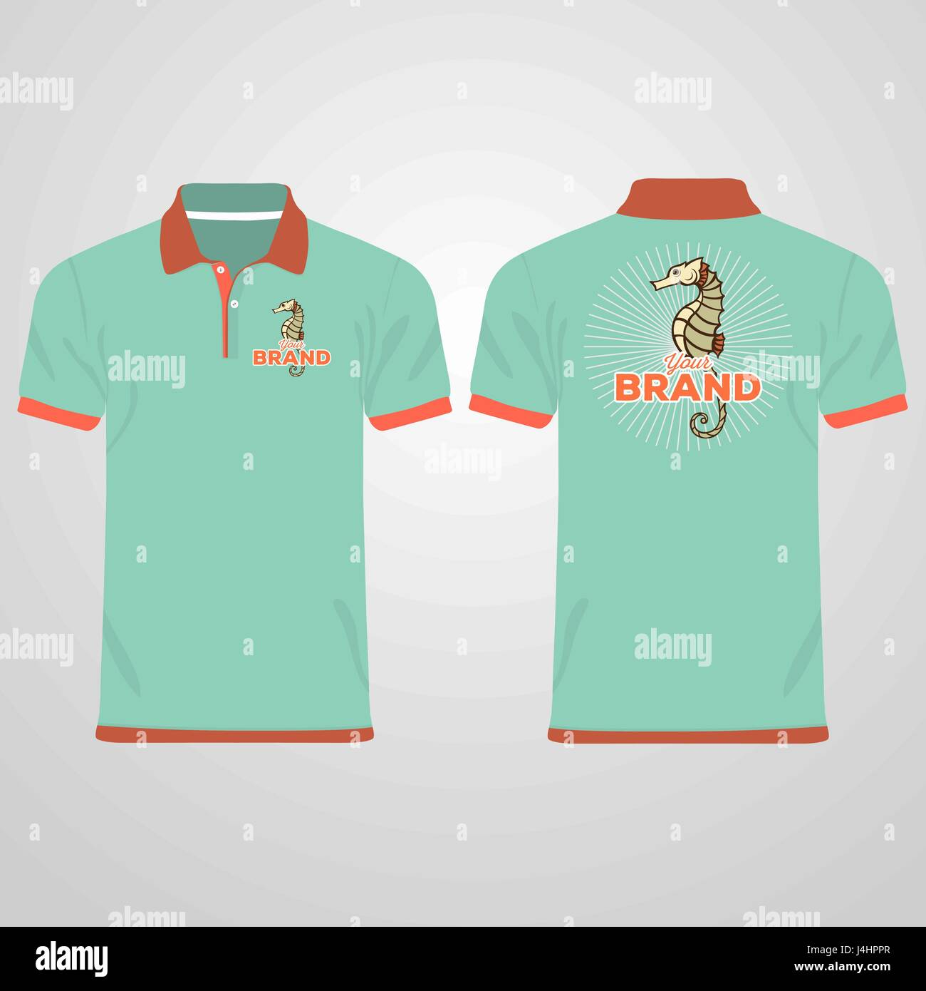 Color Men Polo Shirts Design Template Vector