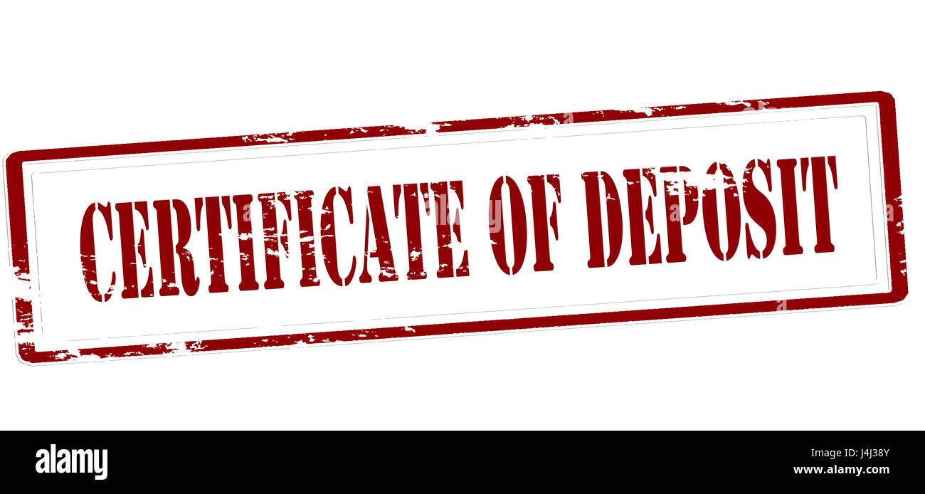 Stamp with text certificate of deposit inside vector illustration stamp with text certificate of deposit inside vector illustration xflitez Images