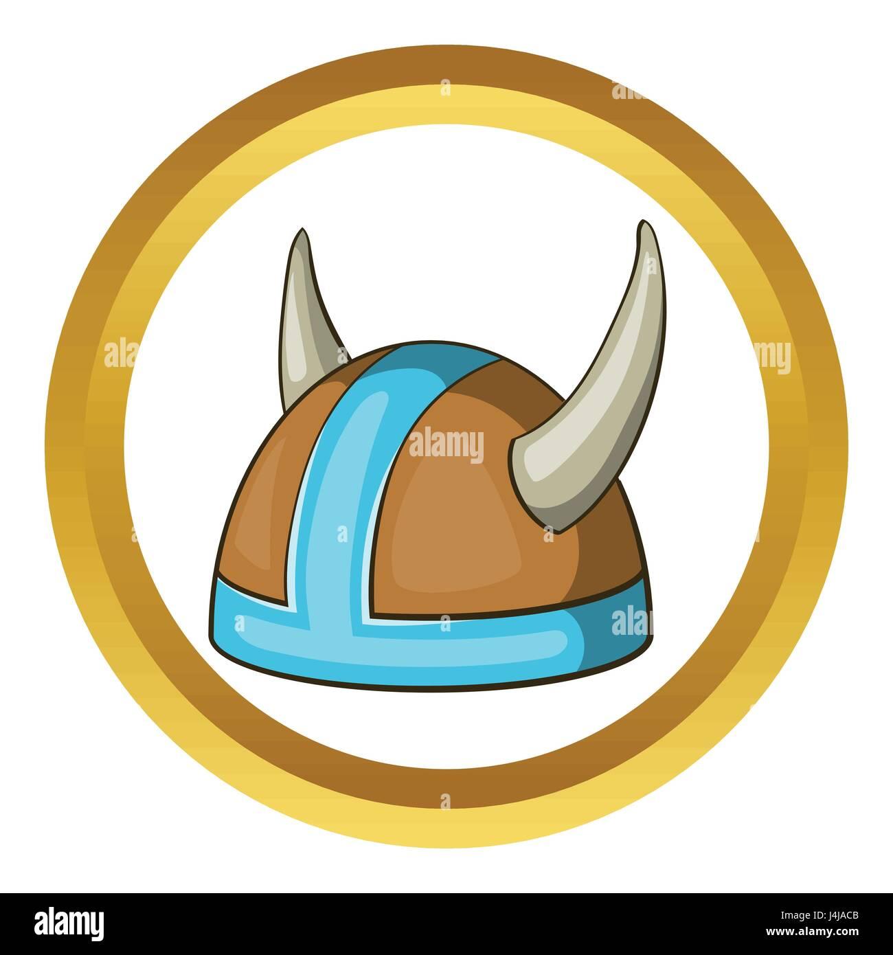swedish viking helmet vector icon stock vector art