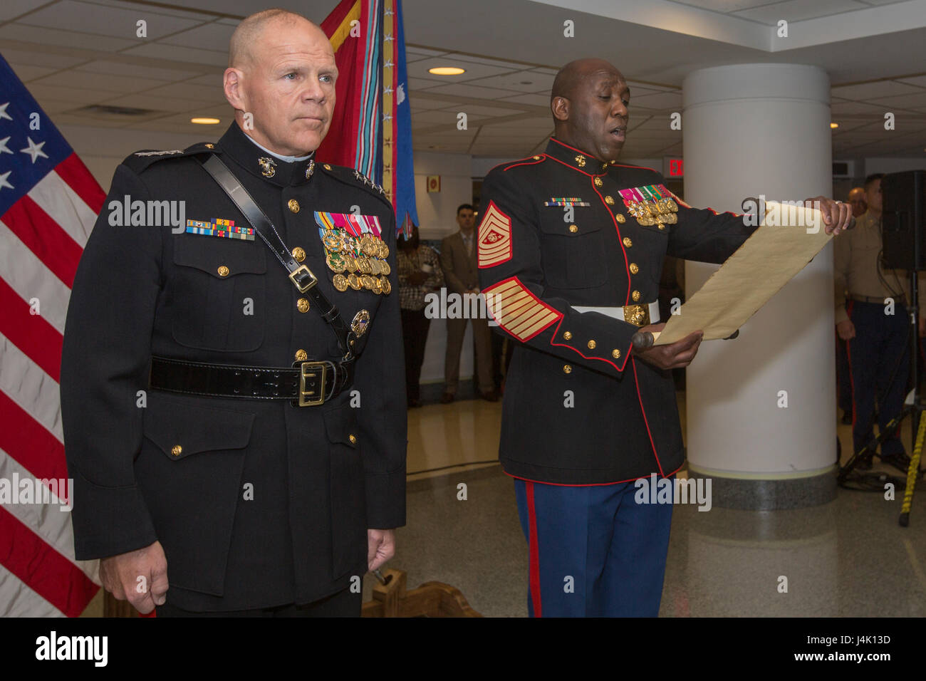 Marine Birthday Cake Ceremony