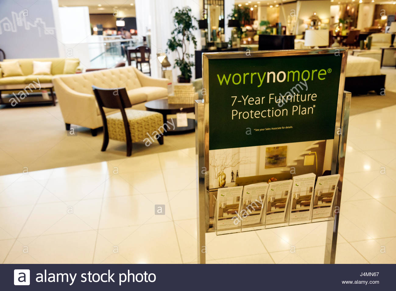 Furniture stores in miami florida - Miami Florida Aventura Mall Macy S Department Store Business Shopping Furniture Warranty Plan Sofa Sign