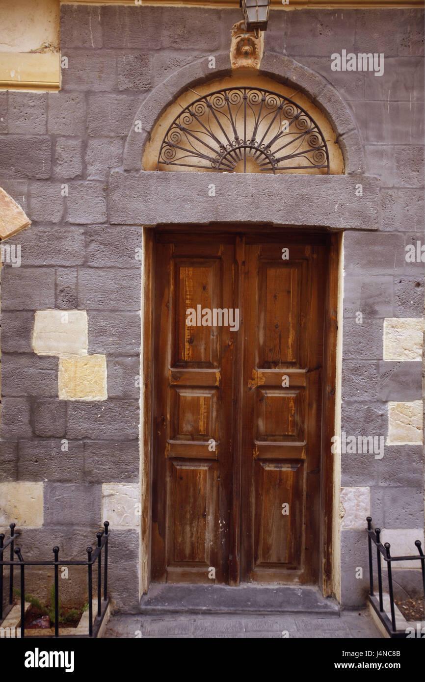 front door gateSyria Damascus Old Town Souq input wooden door gate door