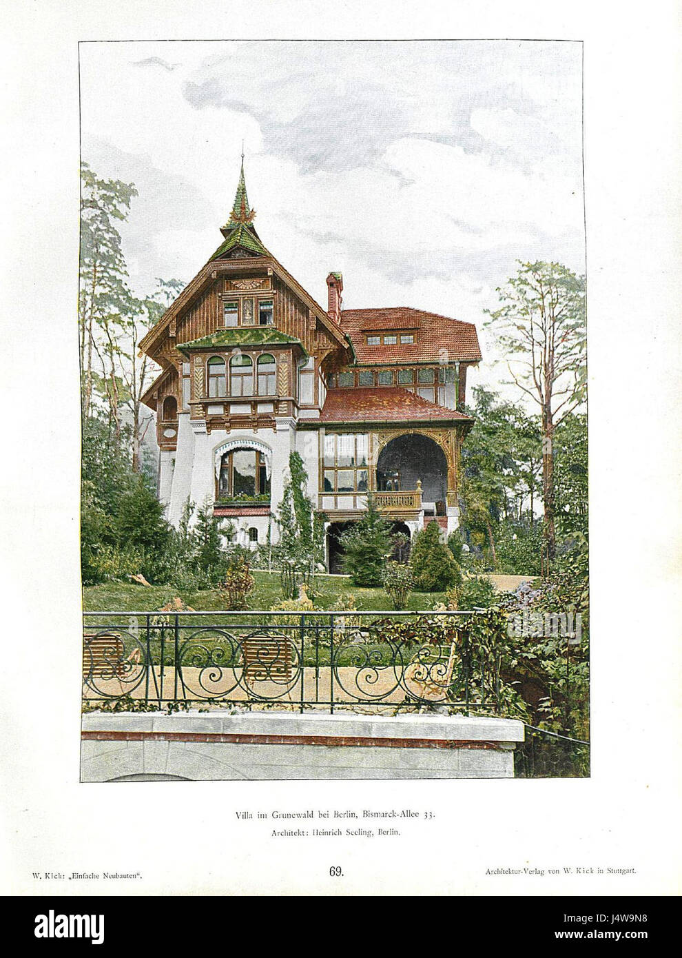 wilhelm kick einfache neubauten stuttgart 1890 villa im grunewald stock photo royalty free. Black Bedroom Furniture Sets. Home Design Ideas
