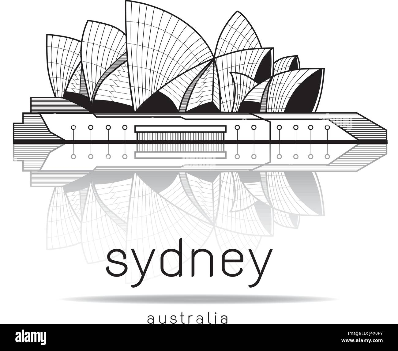 Draw A Houseplan Sydney Opera House Australia Illustration Vector Design