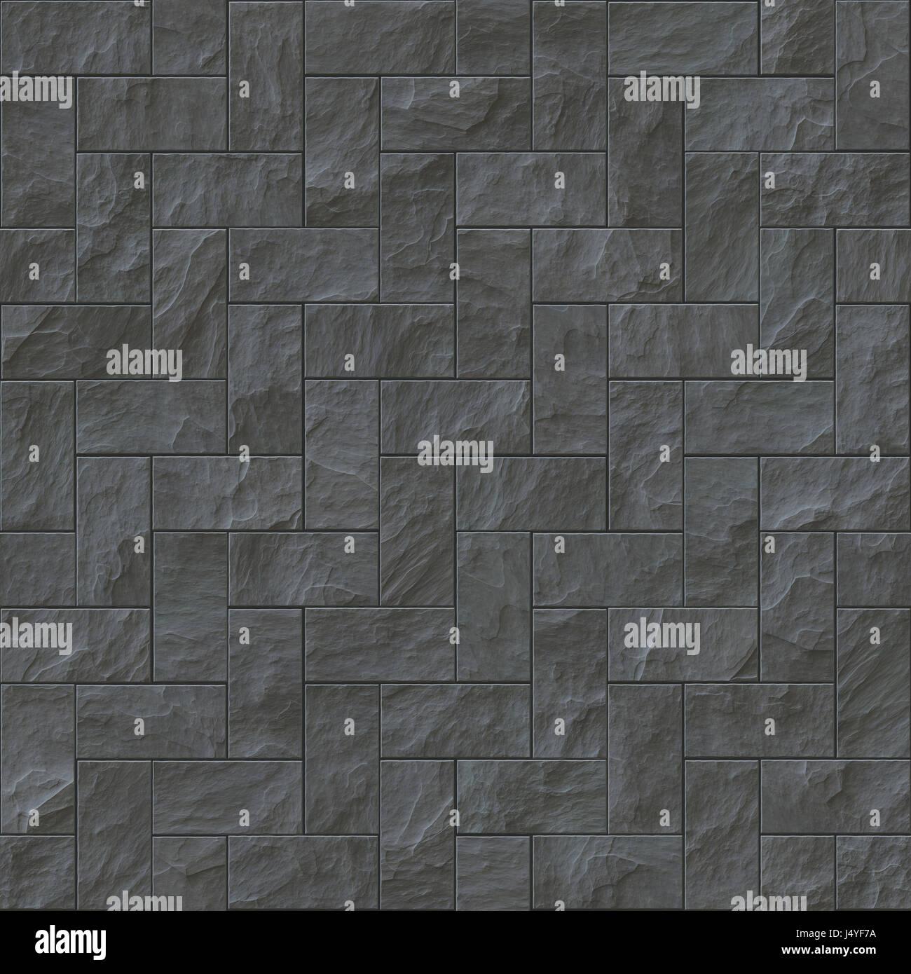 dark stone tile texture. Seamless dark stone brick texture illustration Stock Photo