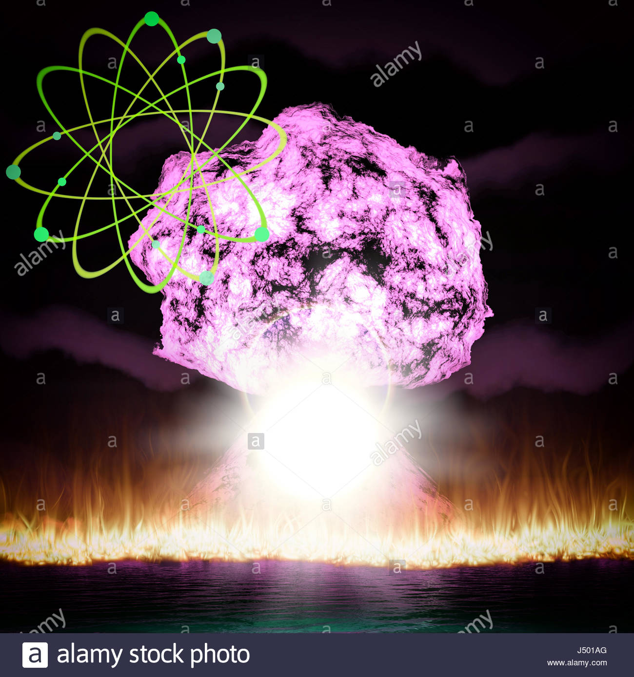 Nuclear explosion with symbol of atomic energy 3d rendering stock nuclear explosion with symbol of atomic energy 3d rendering buycottarizona