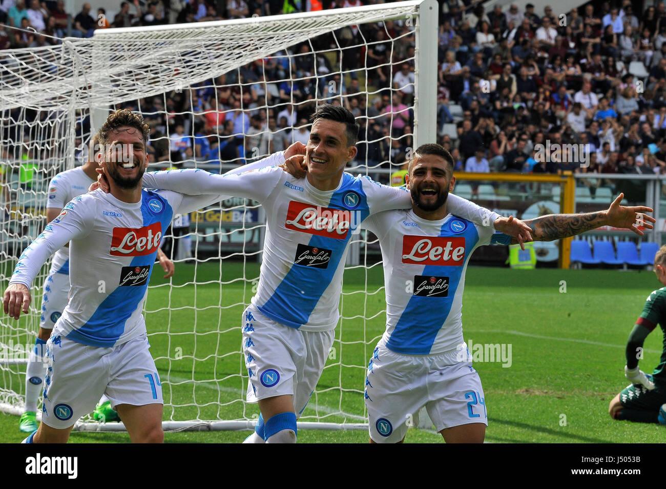 Turin Italy 14th May 2017 Jose Maria Callejon Lorenzo Insigne