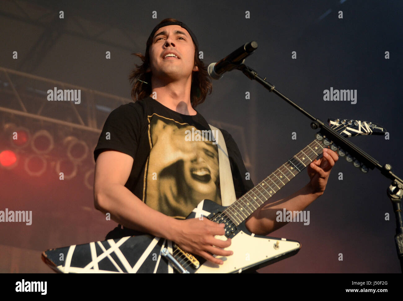 May 13 2017 Lead singer Vic Fuentes of the band Pierce The Veil