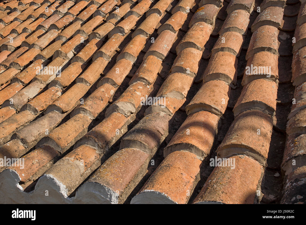 Old ceramic pottery terracotta roof tiles on rural house on gran old ceramic pottery terracotta roof tiles on rural house on gran canaria canary islands spain dailygadgetfo Images