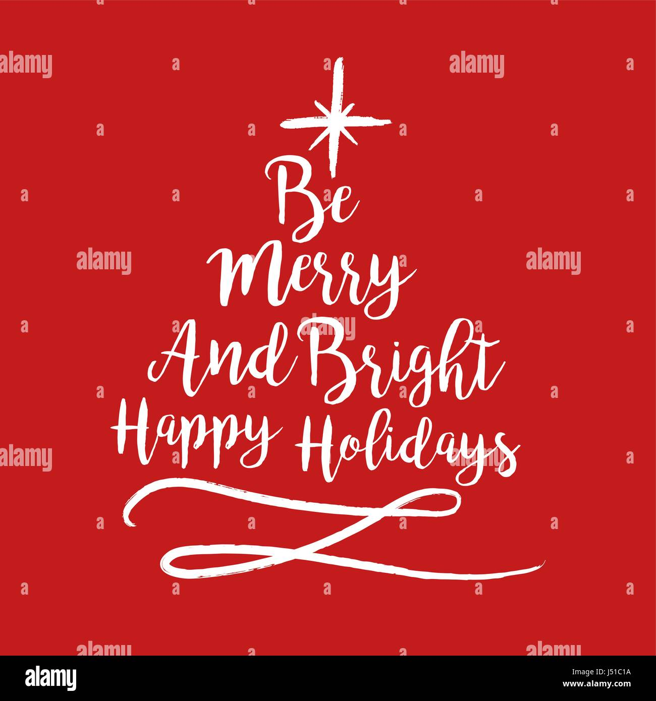 Incroyable Merry Christmas Calligraphy Quote, Lettering Text Design For Holiday  Season. Creative Red Typography Font Illustration. EPS10 Vector