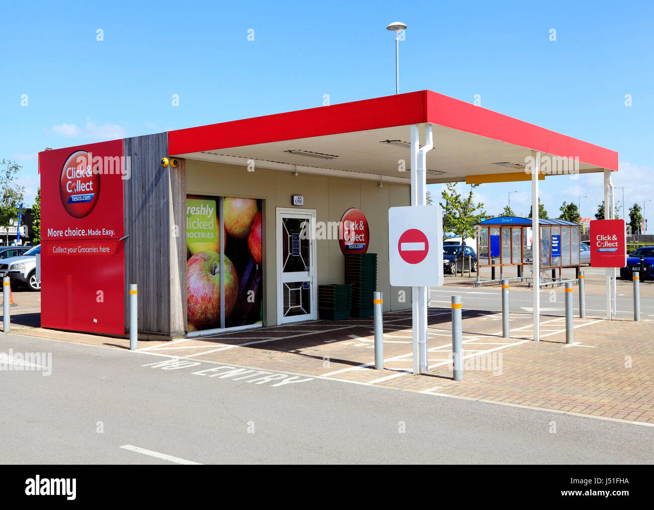 tesco stores click collect drive in point kings lynn norfolk stock photo royalty free. Black Bedroom Furniture Sets. Home Design Ideas