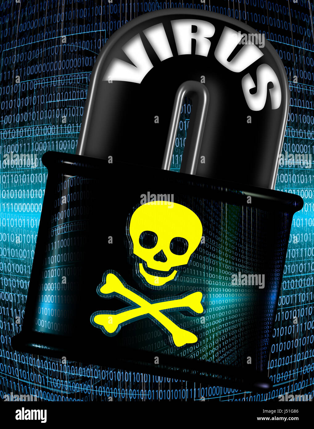 Internet security and malware concept illustration a skull and internet security and malware concept illustration a skull and bones symbol over a lock with binary code background buycottarizona Images