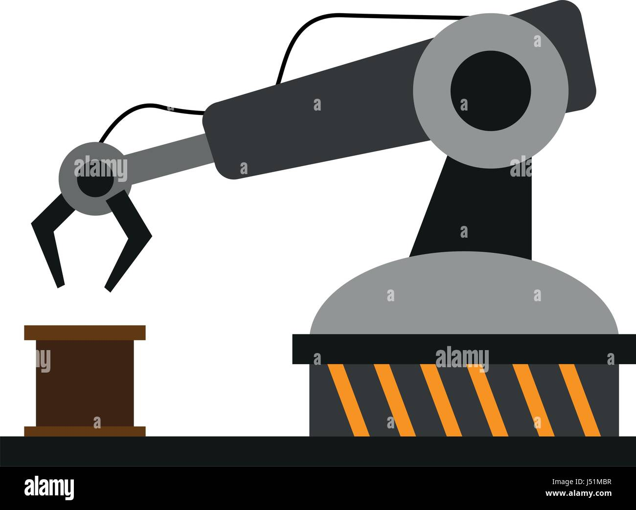 Assembly Line Industrial Machine Icon Image Stock Vector