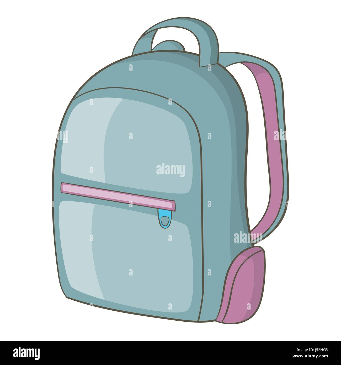 Backpack icon. Cartoon illustration of backpack vector ...