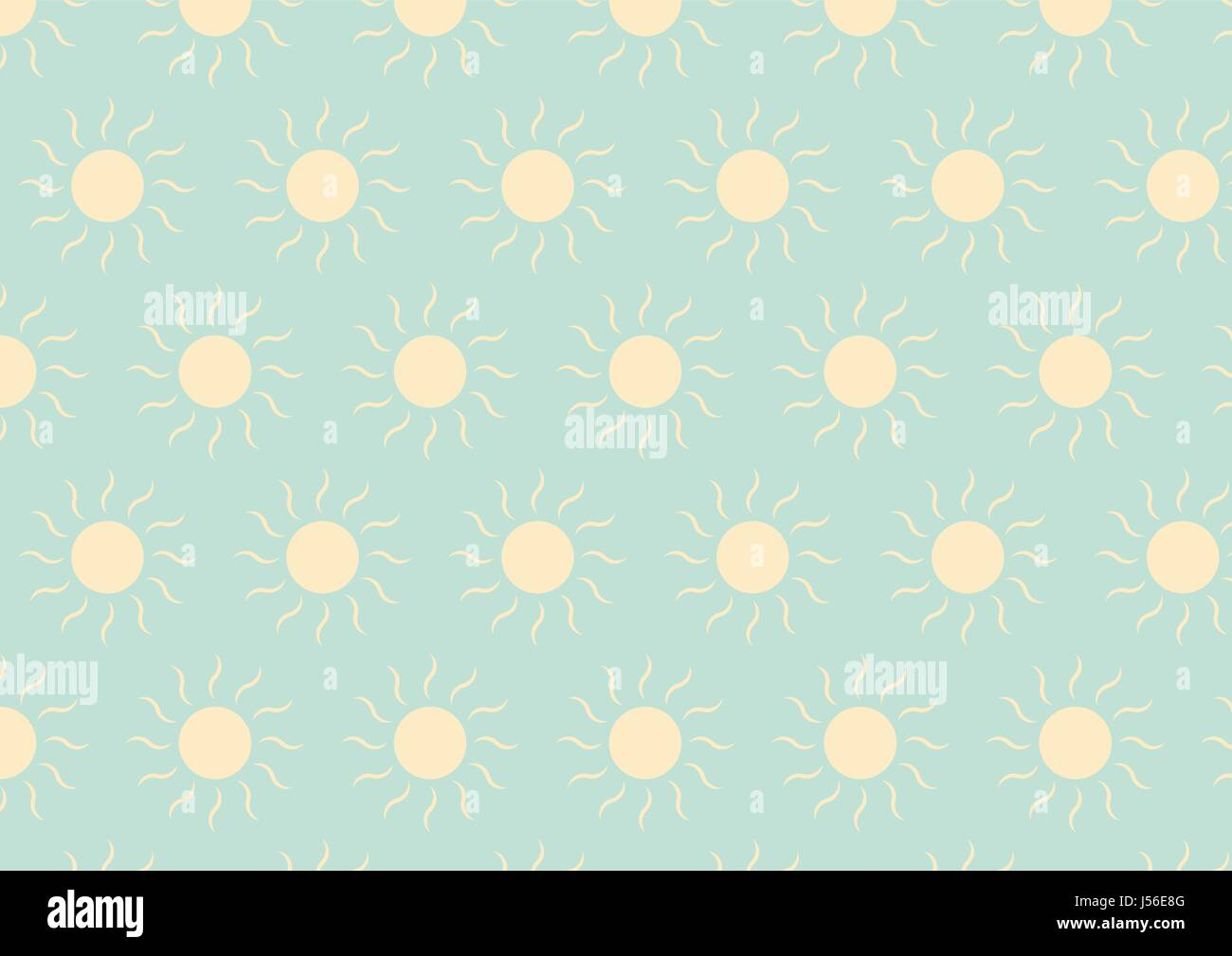 Soft Green Color Soft Yellow Sun On Soft Green Color In Pastel Style Stock Vector