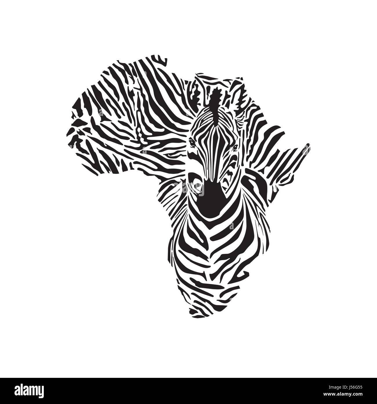 africa and zebra tattoo design stock vector art illustration vector image 140900625 alamy. Black Bedroom Furniture Sets. Home Design Ideas