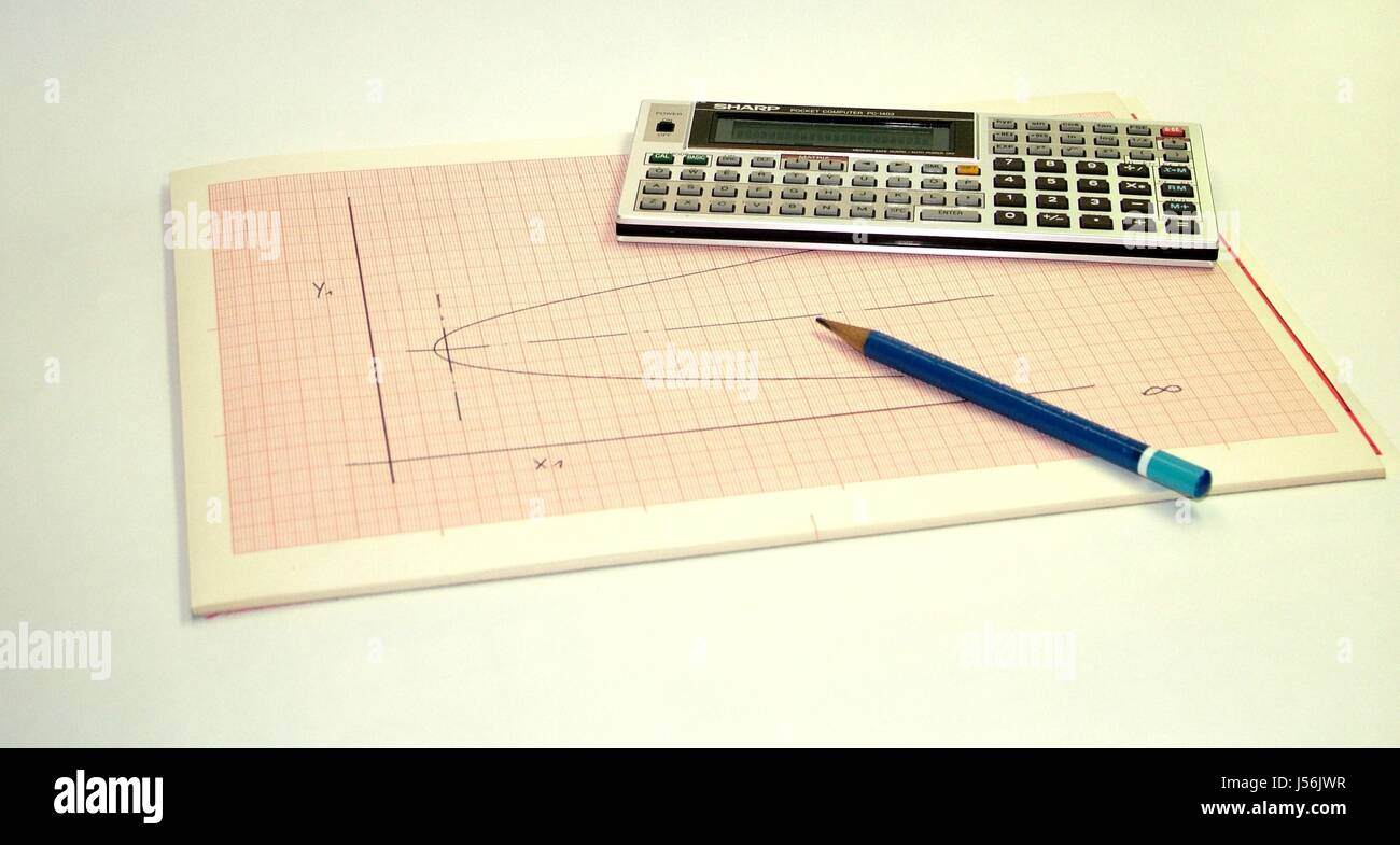 calculator science mathematics theory calculation graph paper stock