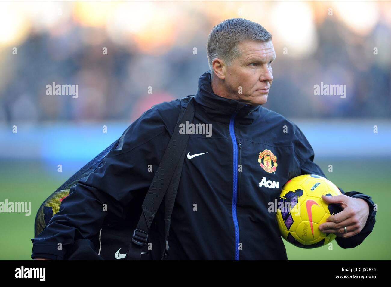 chris woods manchester united fc goalkeeping coach manchester united fc kc stadium hull england 26 december