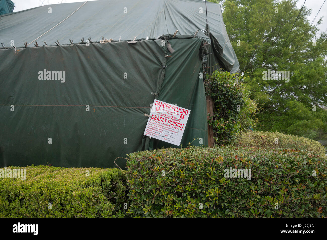 Tent fumigation of home & Tent fumigation of home Stock Photo Royalty Free Image: 140924245 ...