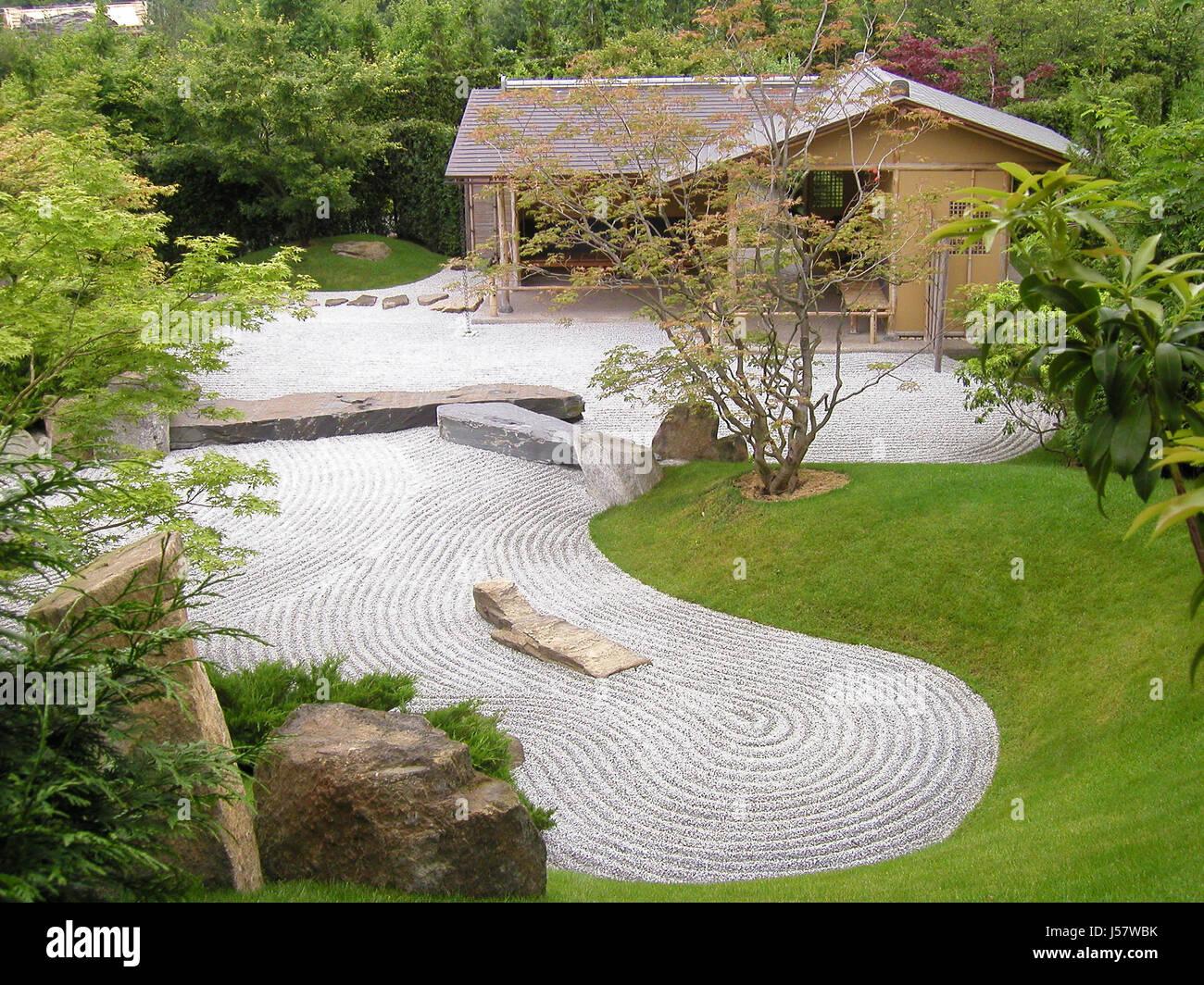 Elegant Zen Garden,japanese Garden Berlin   Stock Image