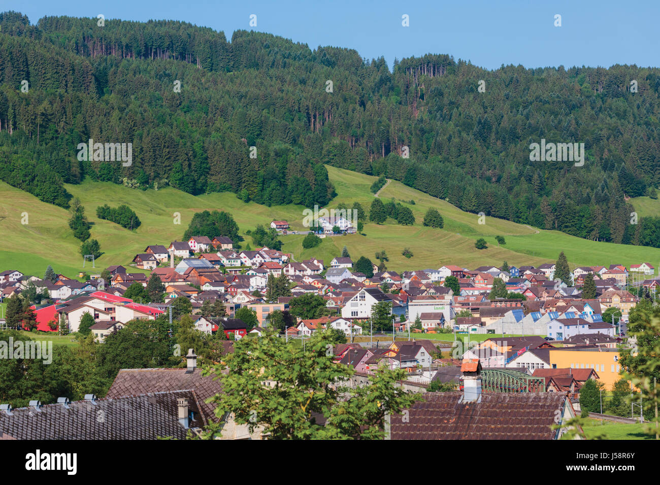 Canton Appenzell Countryside Stock Photos Canton Appenzell