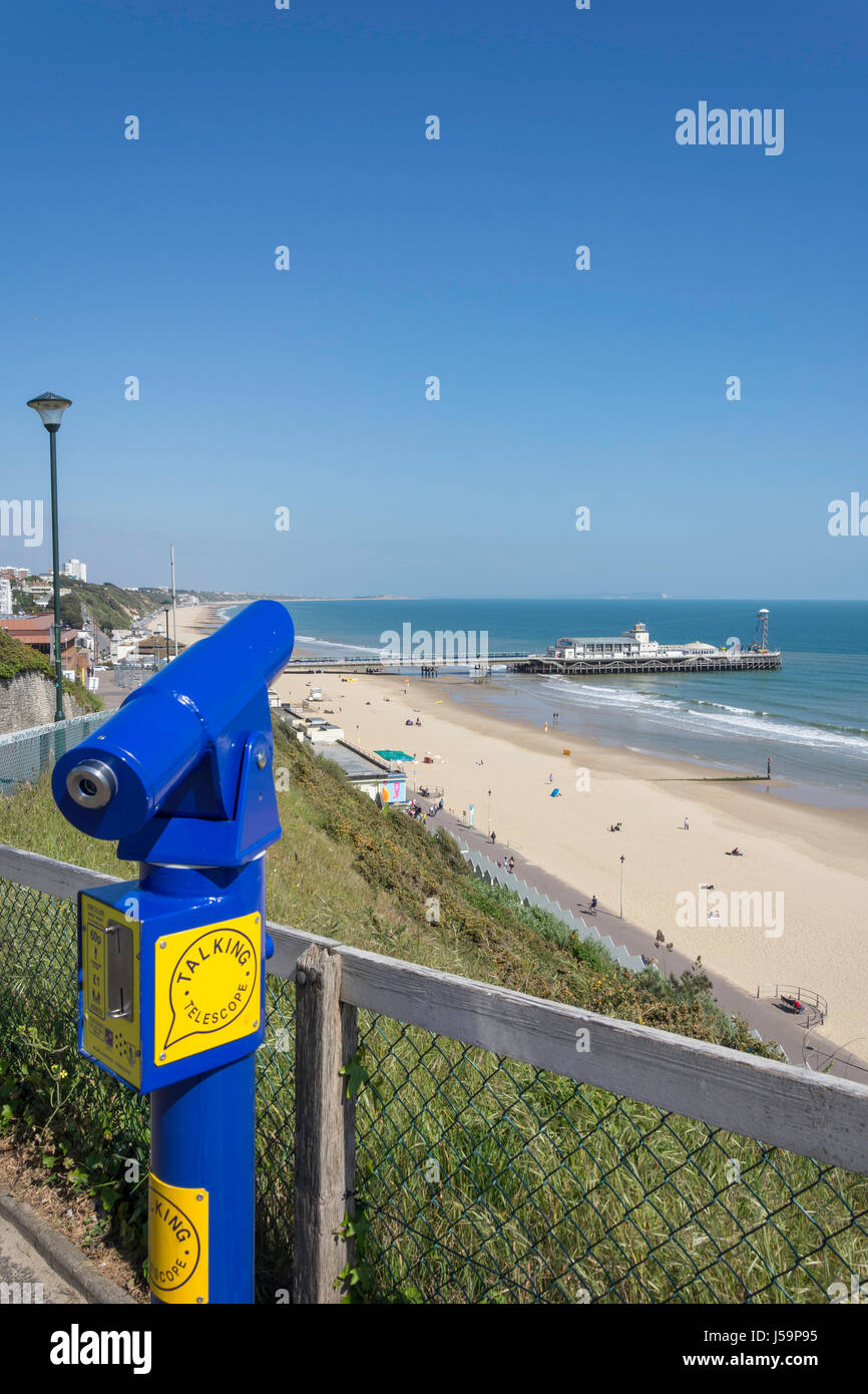 West Beach And Bournemouth Pier From Cliff Dorset England United