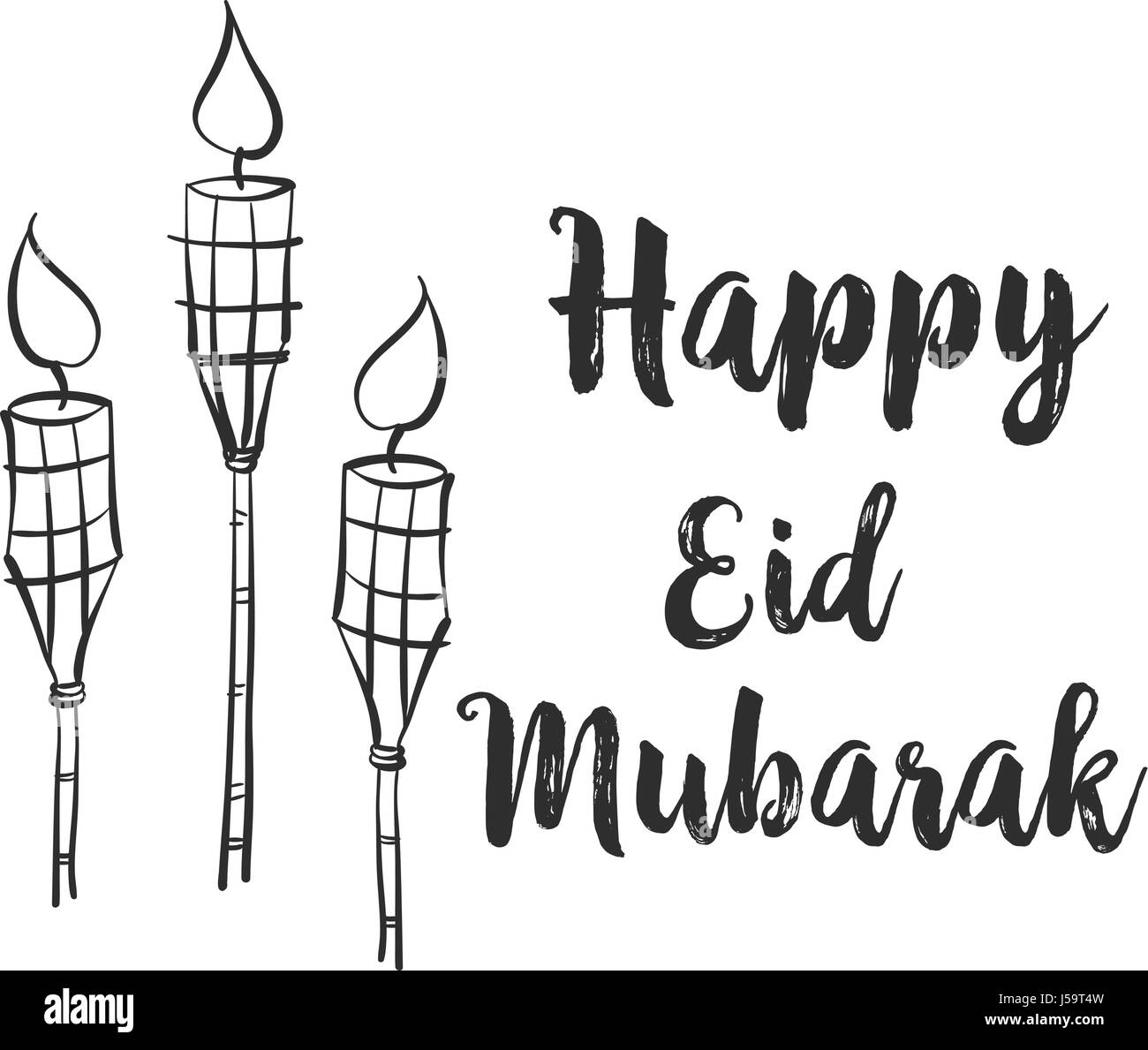 Eid Mubarak Black and White Stock Photos & Images - Alamy