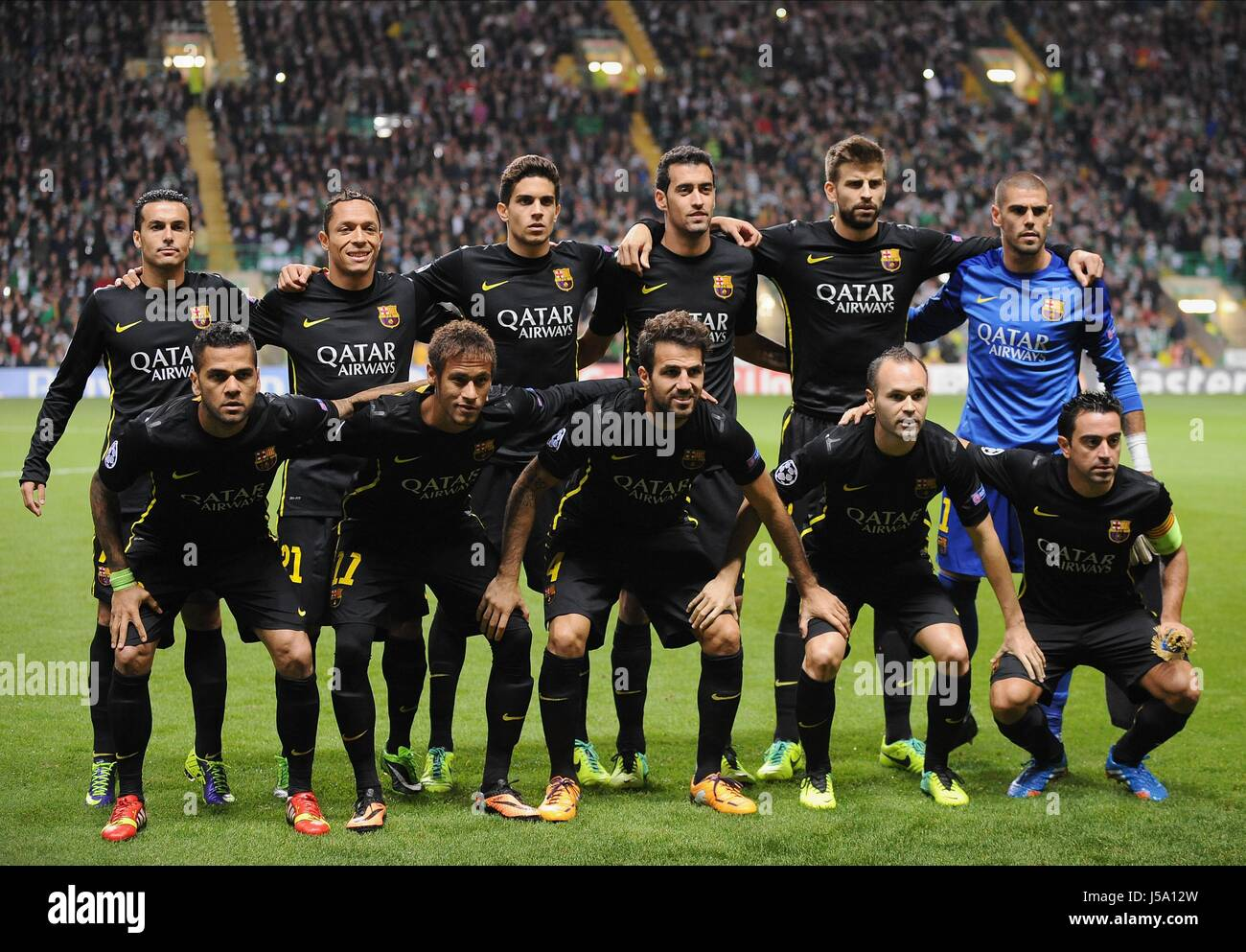 Celtic Fc Team Stock Photos Images Alamy Barcelona Group Glasgow