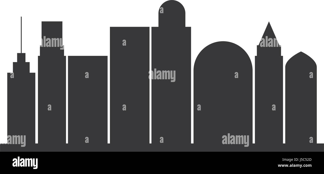 Outline athens skyline with blue buildings and copy space stock vector - Black Silhouette City Landscape With Buildings Stock Vector