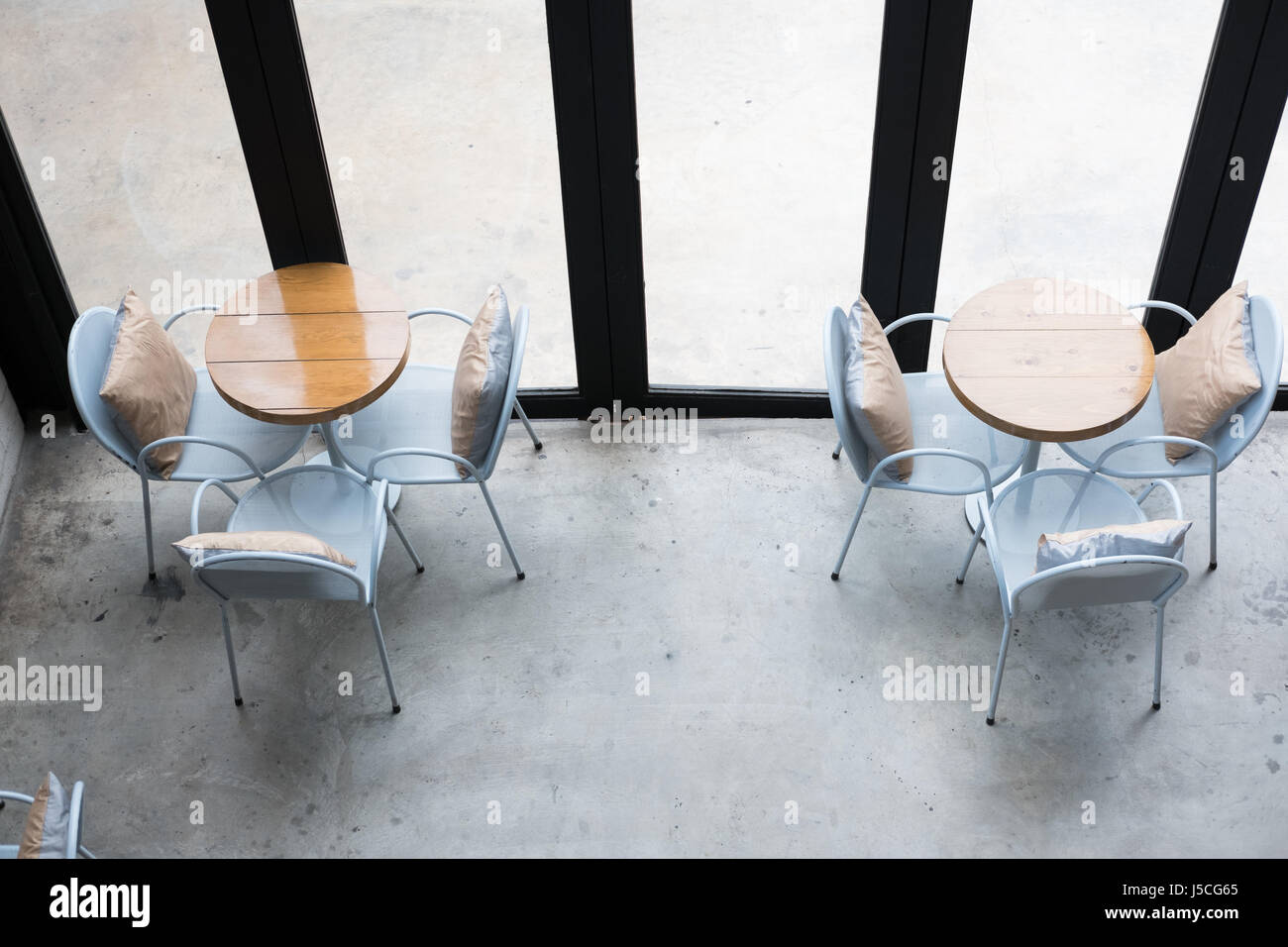 Table and chair in food court cafe coffee shop cafeteria stock table and chair in food court cafe coffee shop cafeteria restaurant interior top view geotapseo Gallery
