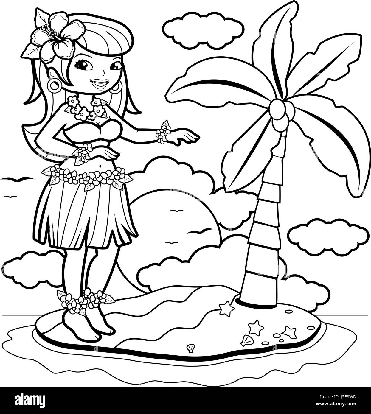 Hawaii Island Coloring Pages