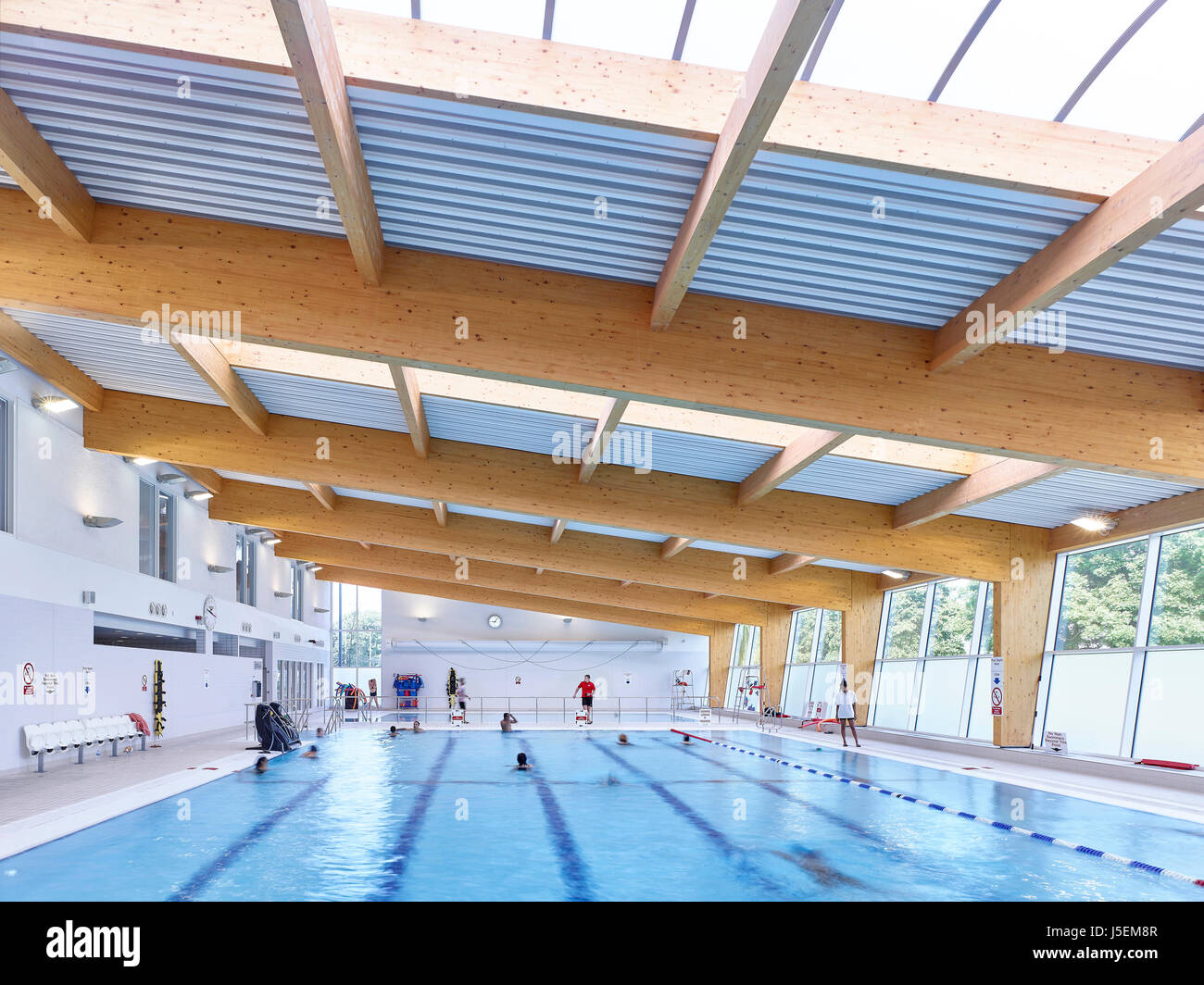 Corrugated ceiling stock photos corrugated ceiling stock images alamy for Swimming pool treatment options
