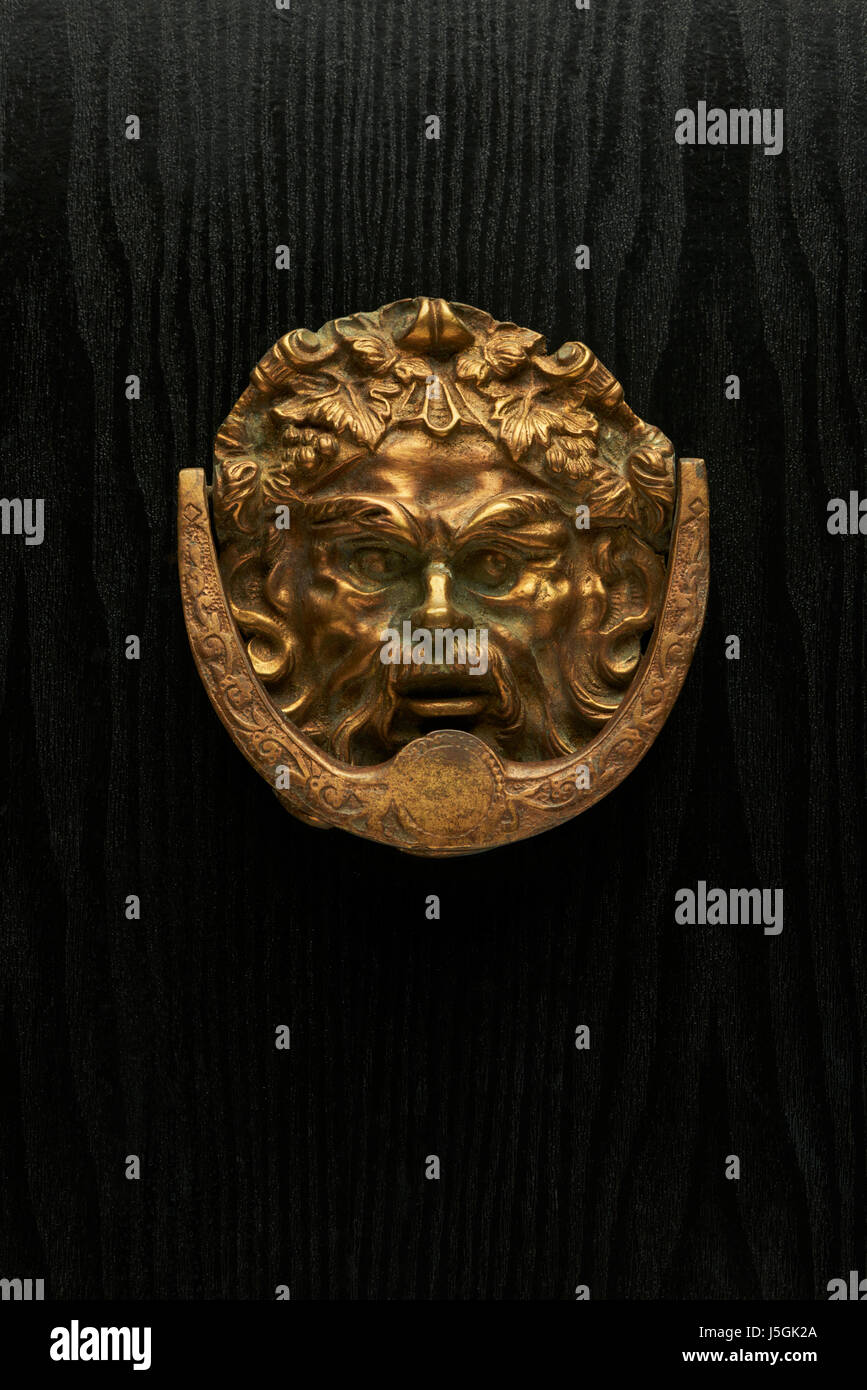 Ornate Brass Door Knocker   Stock Image