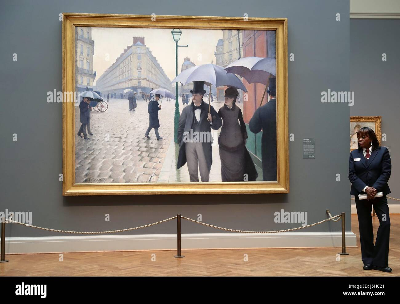 Chicago USA Th May  A Staff Member Stands Beside An Oil - Famous art museums in usa