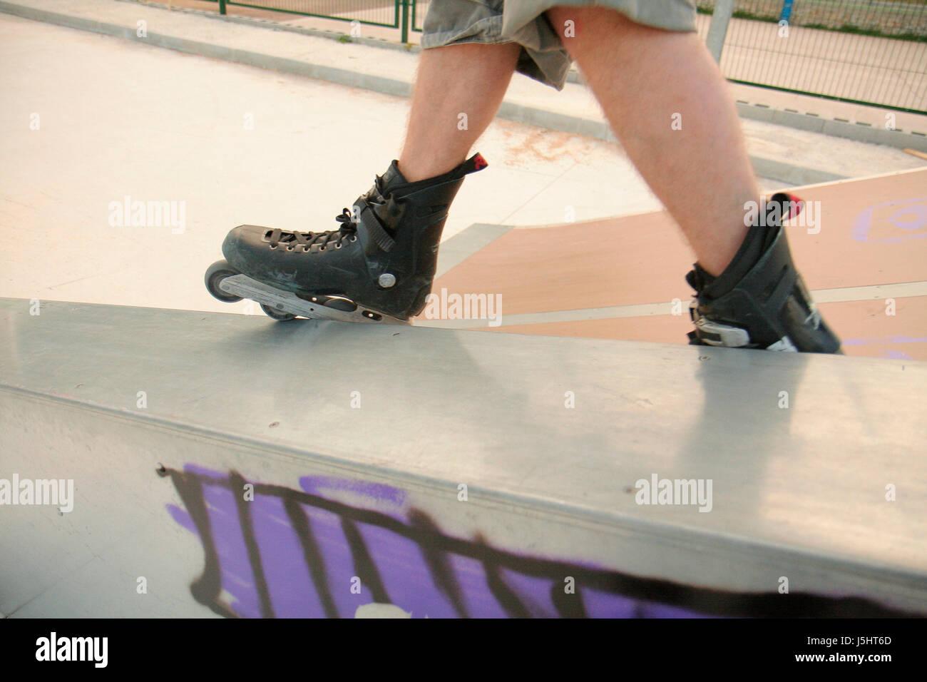 Roller skating visalia - Sport Sports Ramp Grind Roller Skate Half Skating Blade Pipe Tube Inline Jugend Stock Image