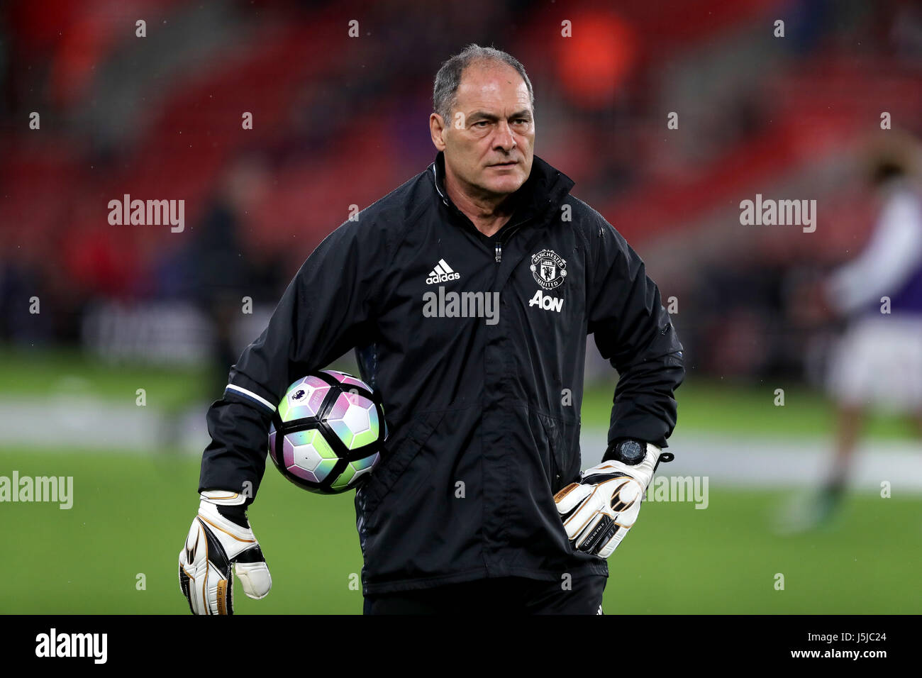 manchester united goalkeeping coach silvino louro during the premier league match at st mary s southampton