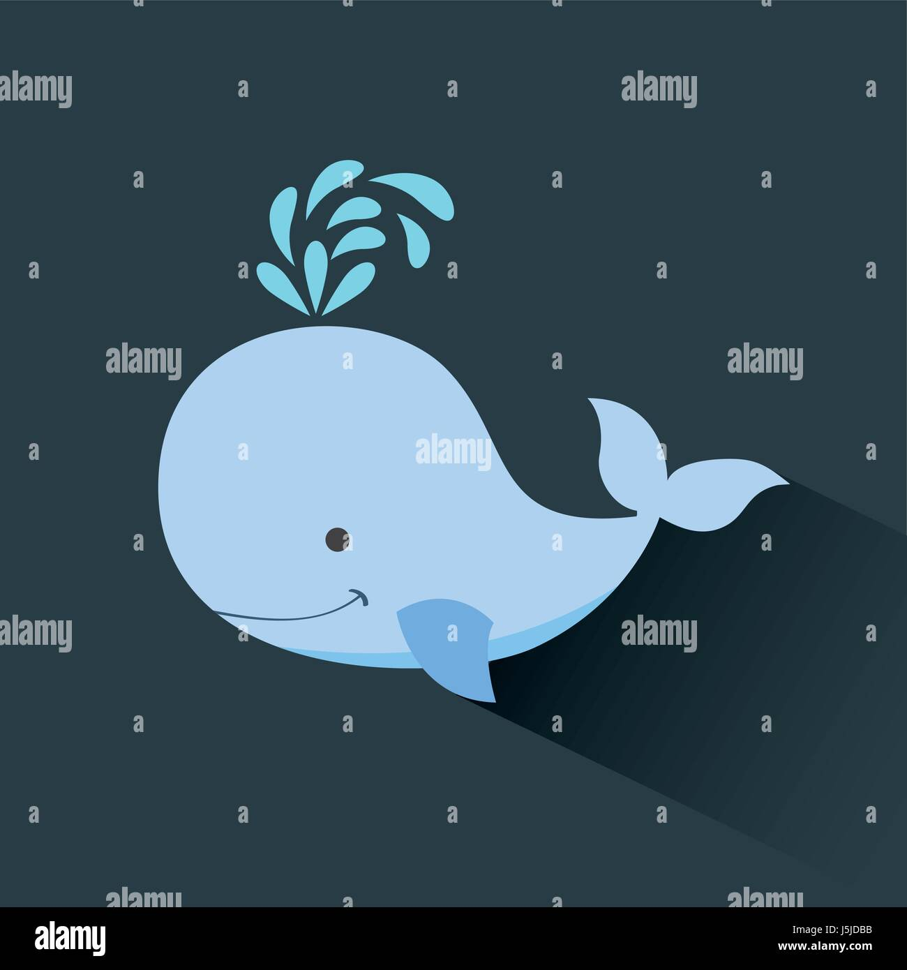 Cute whale in water cartoon isolated illustration stock photography - Cute Whale Cartoon Icon Image Stock Image