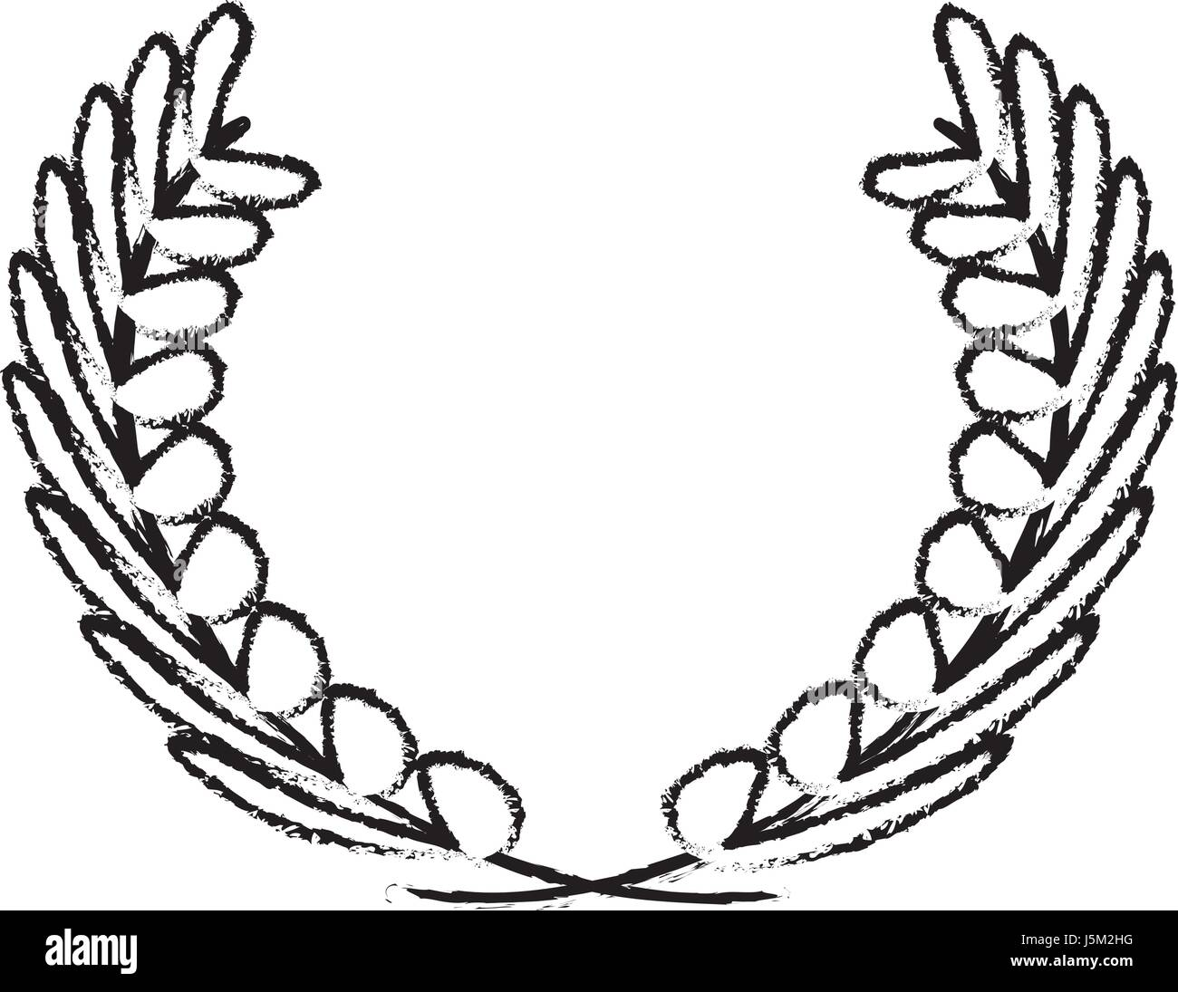 wreath of leaves icon stock vector art u0026 illustration vector