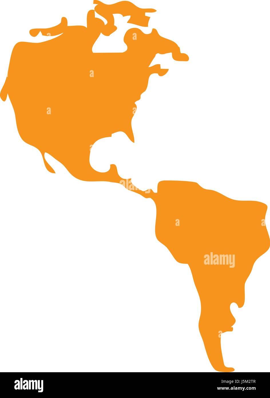 America map icon stock vector art illustration vector image america map icon sciox Choice Image