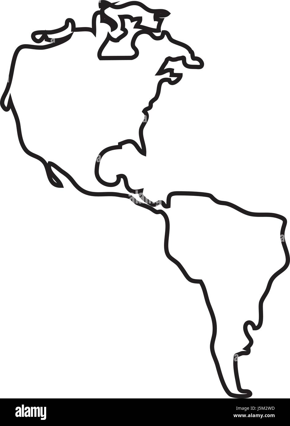America Map Stock Photos America Map Stock Images Alamy - North america map black and white