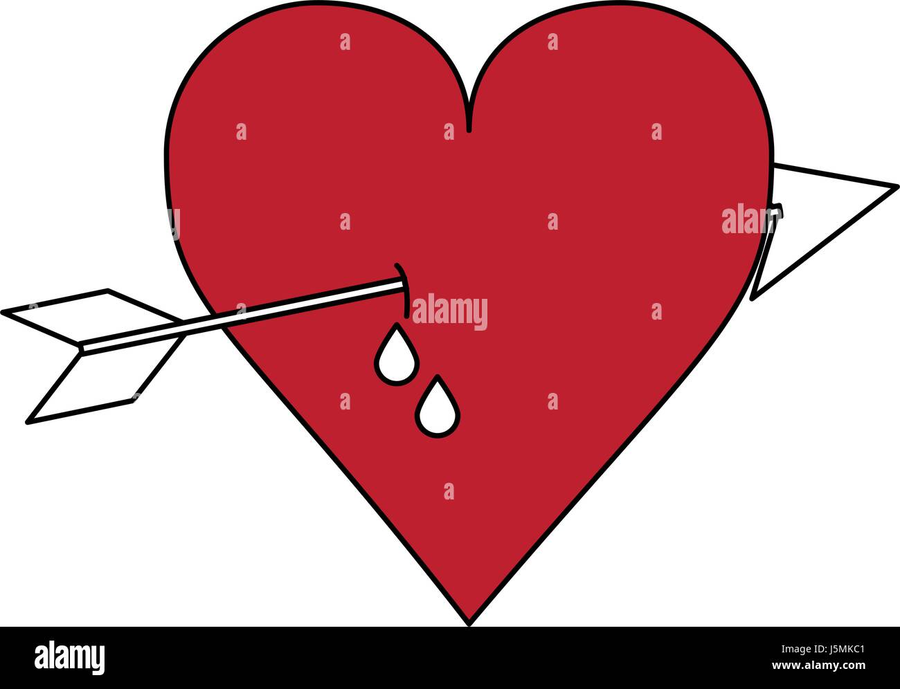 Bleeding heart symbol of love stock photo 32304129 alamy color silhouette image red heart pierced bleeding out by arrow stock photo buycottarizona