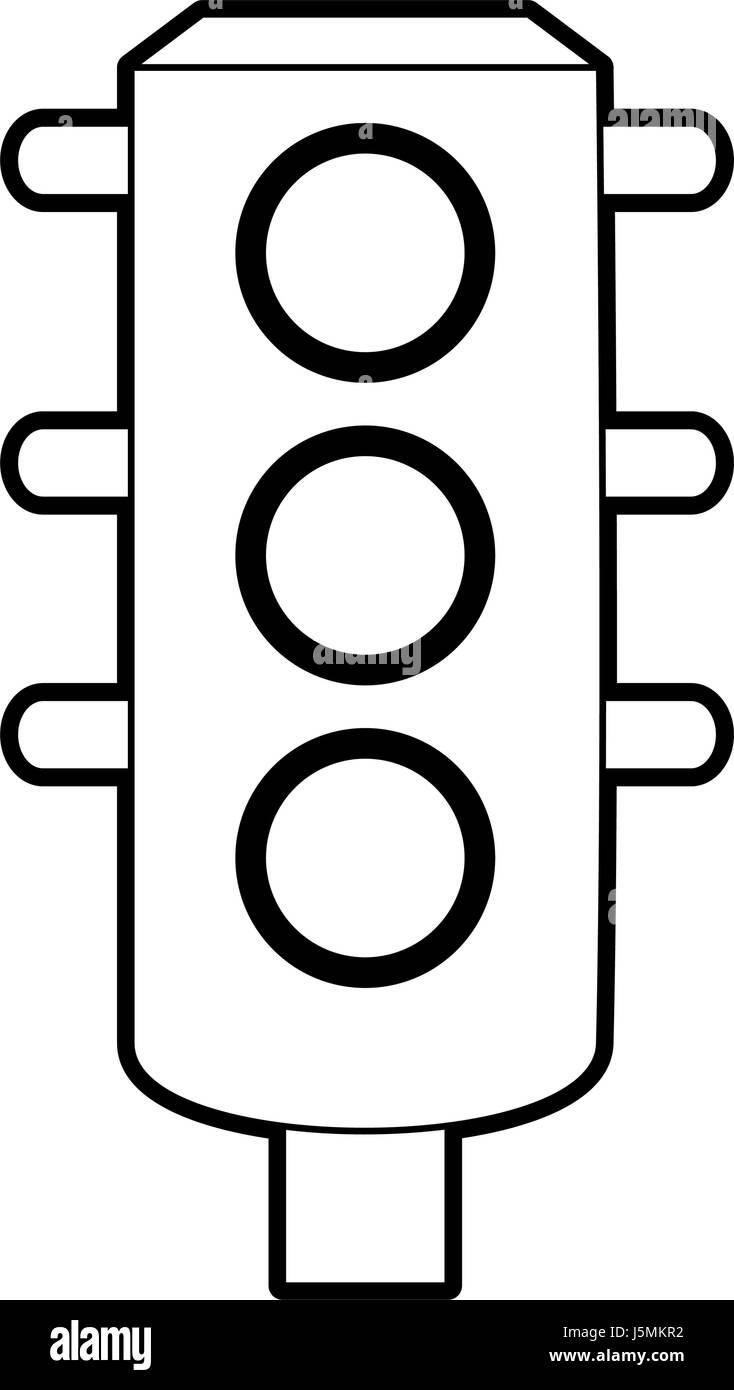 sketch silhouette image traffic light element of street Stock ... for Traffic Light Sketch  53kxo