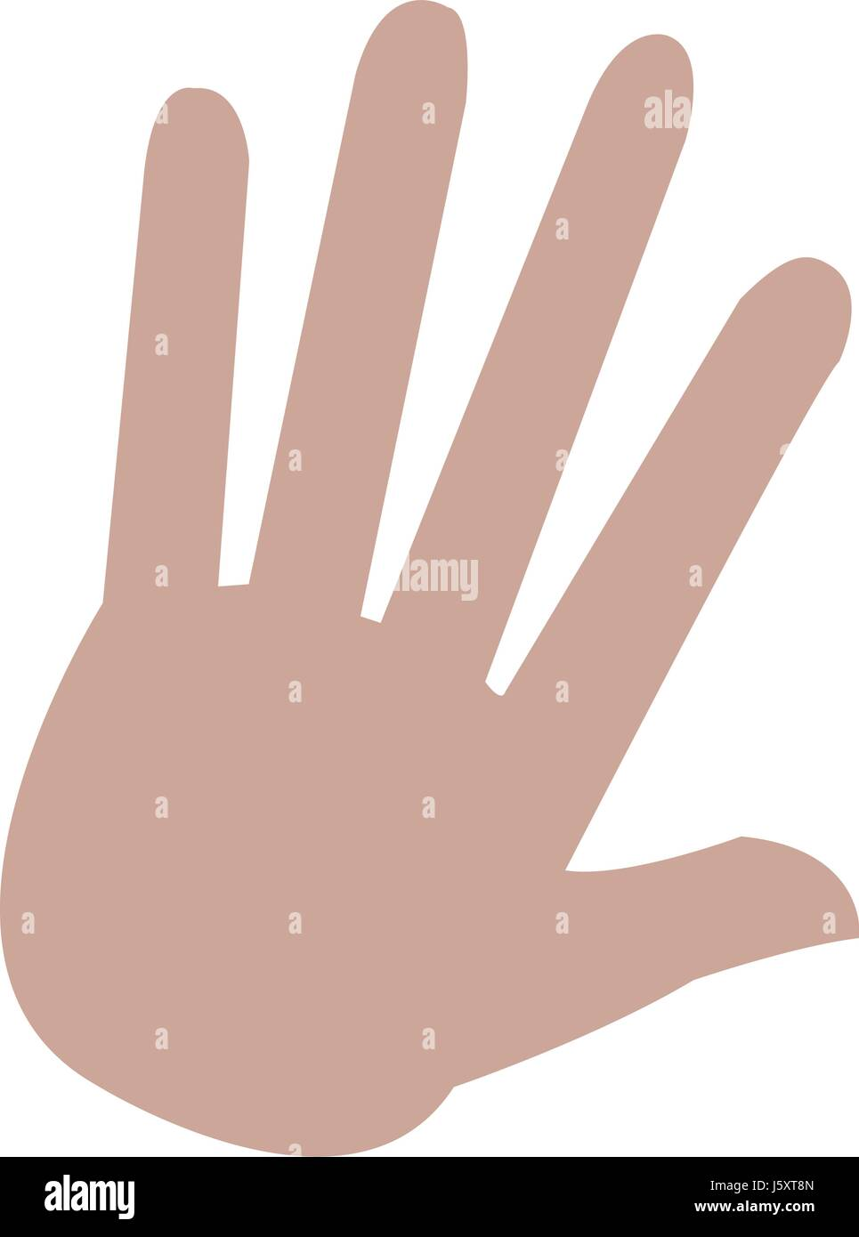 Hand Palm Human Symbol Style Stock Vector Art Illustration Vector