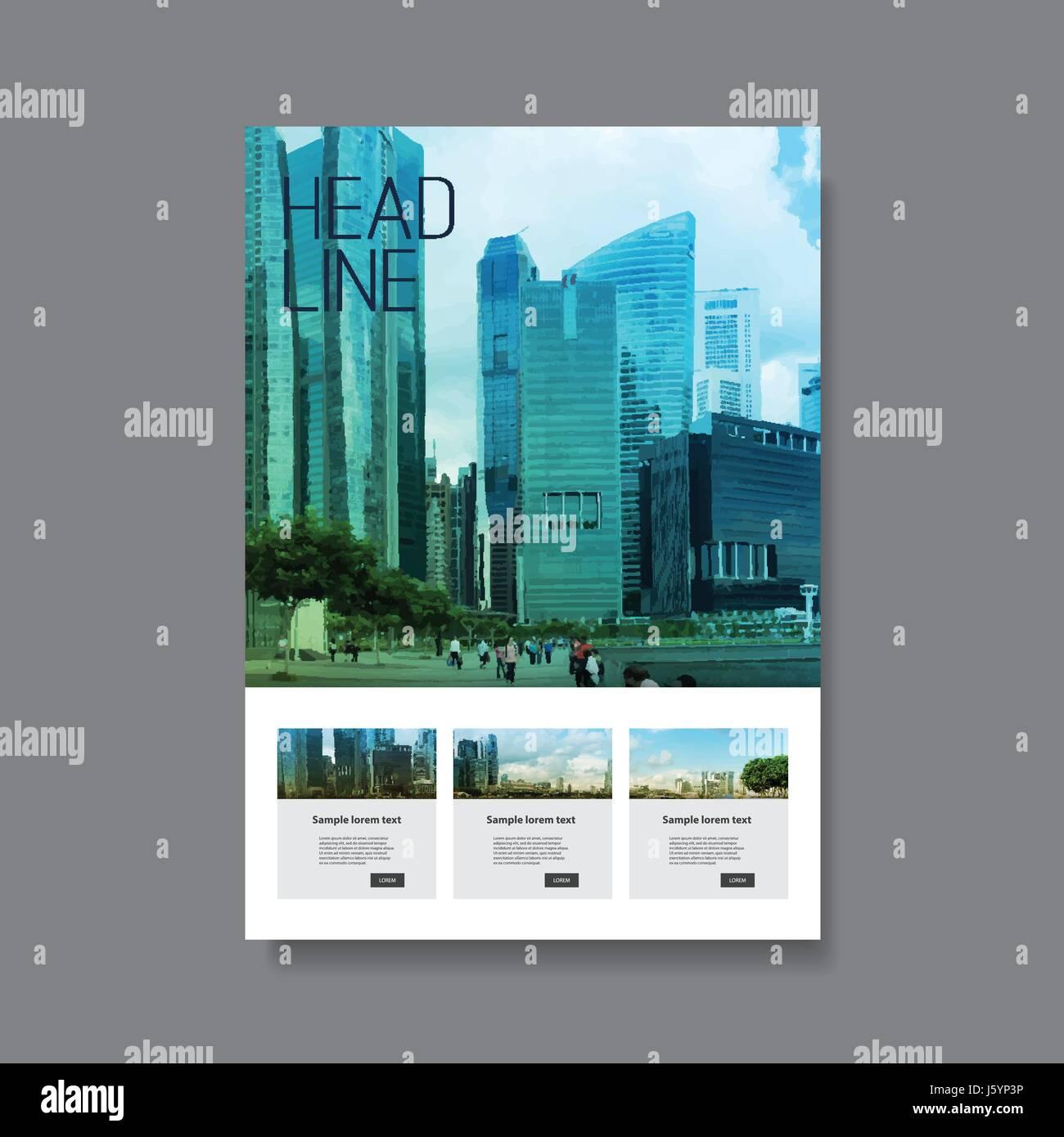 Abstract Modern Styled Flyer, Folder, Brochure, Leaflet, Pamphlet ...