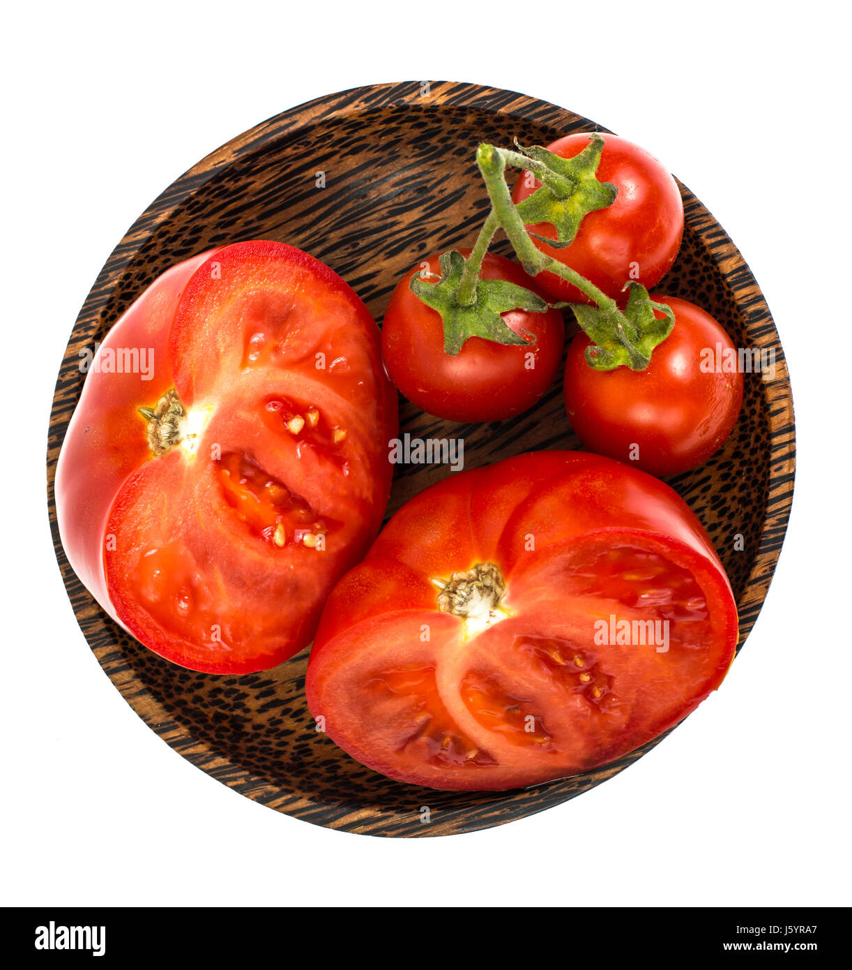 how to store a half cut tomato