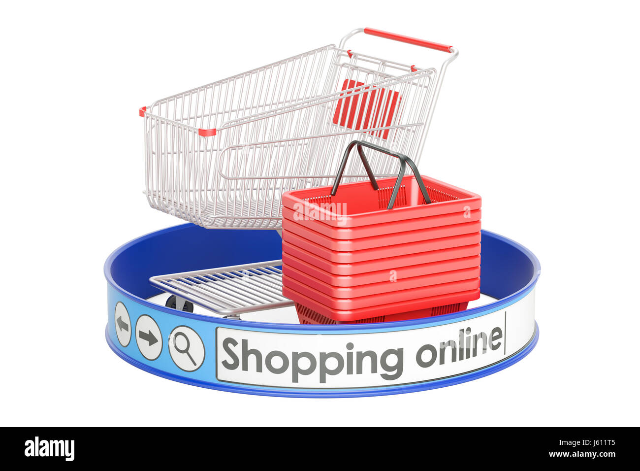 Shopping online e shopping concept 3d rendering isolated for Rendering online free