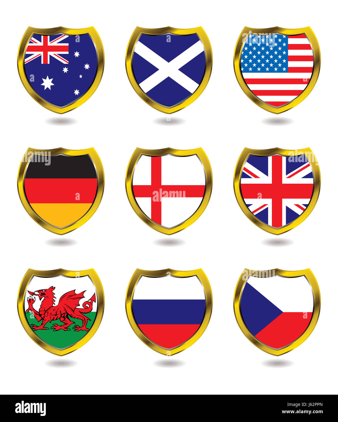 america flag country nation icon nationality shield logo blue