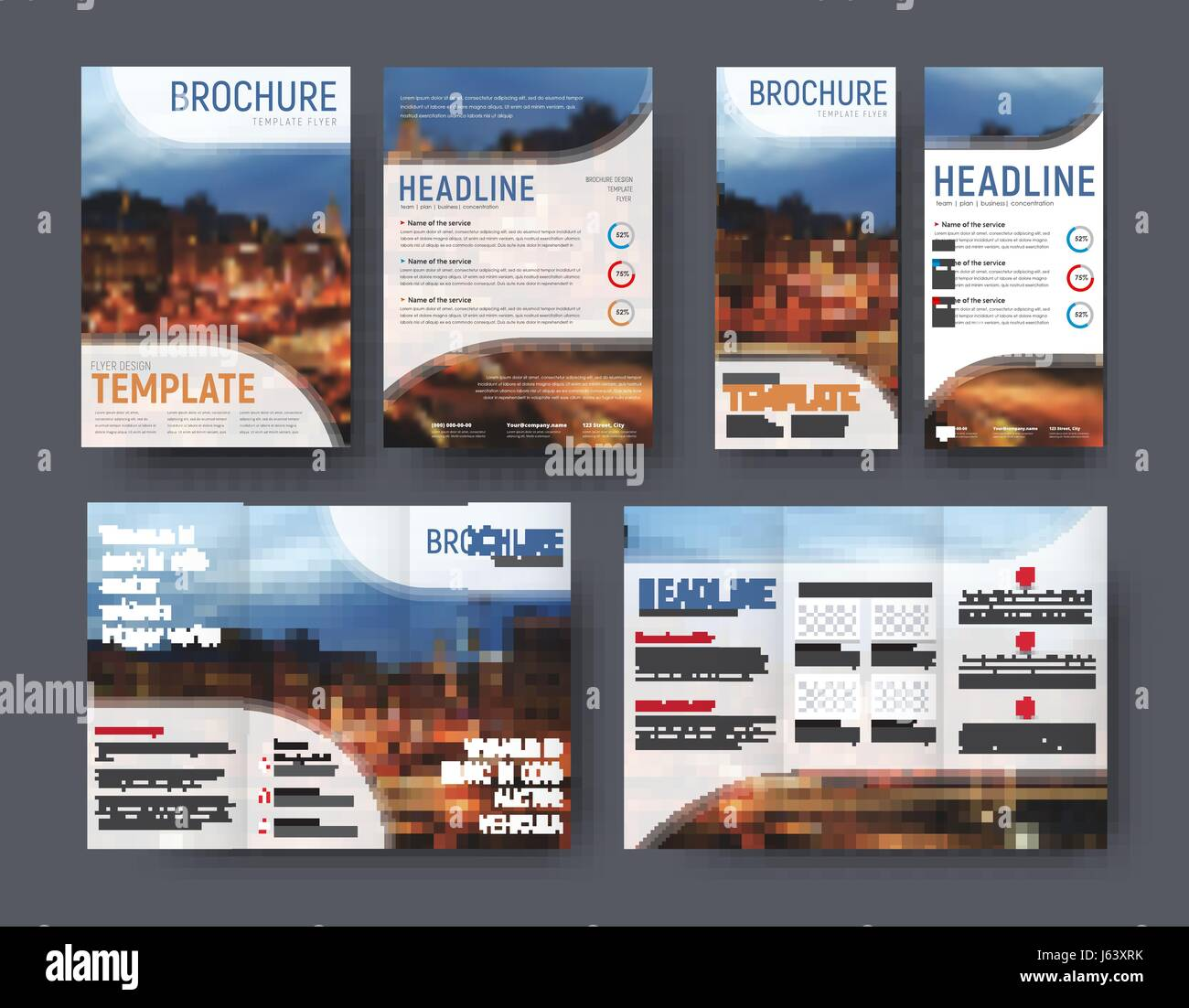 Triple Brochure Template Flyer A And A Narrow Banner With A - A4 brochure template